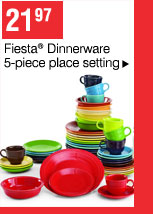 21.97 Fiesta® Dinnerware 5-piece place setting
