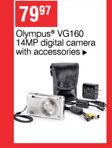 79.97 Olympus&reg VG160 14MP digital camera with accessories