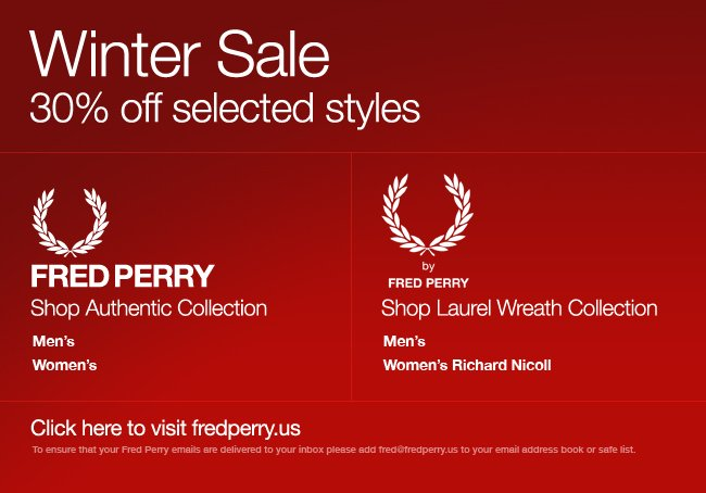 The Fred Perry Winter Sale – shop online now