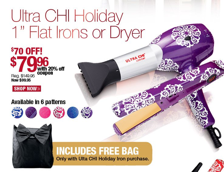Ultra CHI Holiday Flat Irons or Dryer