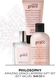 new . limited edition. Philosophy Amazing Grace Layering Gift Set ($77 Value), $49.50