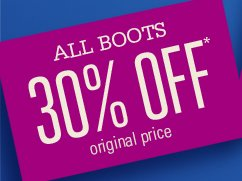 ALL BOOTS 30% OFF*