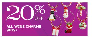 20% off all wine charms sets