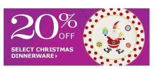 20% off select Christmas dinnerware