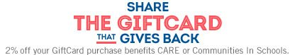 SHARE THE GIFTCARD THAT GIVES BACK