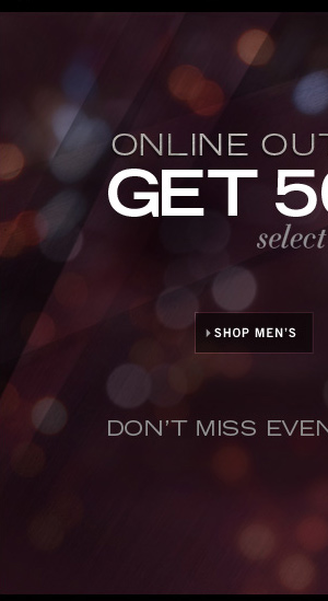 ONLINE OUTLET STORE / SHOP MEN'S
