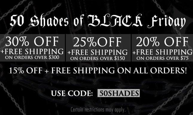 30% OFF BLACK FRIDAY