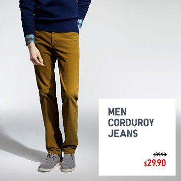 Men corduroy jeans