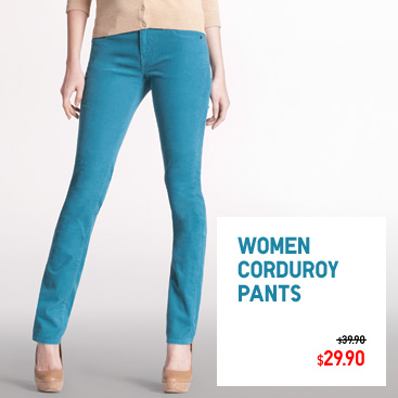 Women corduroy pants