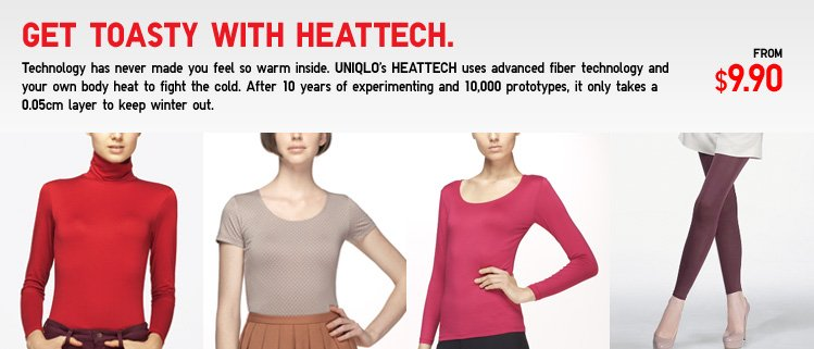 Get toasty with Heattech.