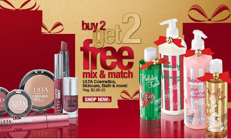 Buy 2 Get 2 FREE ULTA Mix & Match