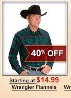 Wrangler Flannels