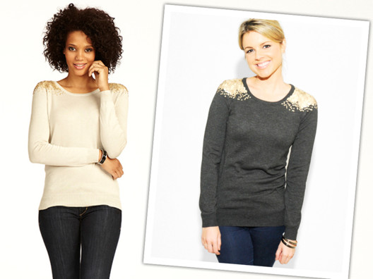This sweater is comfortable, cute and dresses up a simple pair of jeans in a flash!