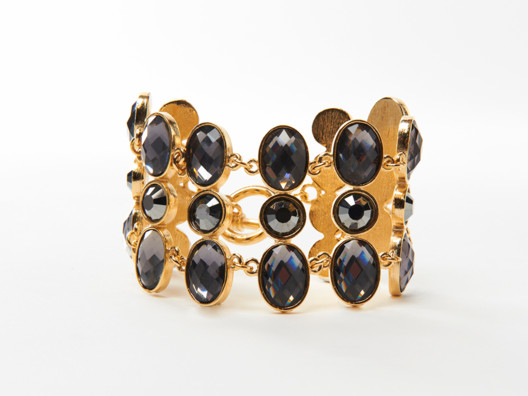 This bracelet is absolutely stunning. I especially love that the gems are gray, which is such an unexpected color.