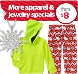 Apparel & Jewelry Specials