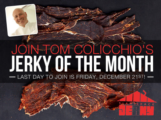 The best way to make sure you never run out of SlantShack jerky? Become a part of the jerky of the month club, and I'll hand-select regular shipments for you.