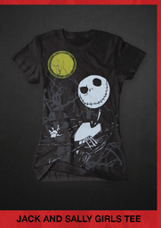 JACK AND SALLY GIRLS TEE