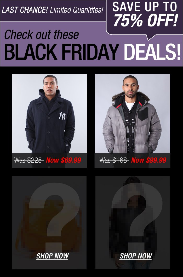 DrJays.com Check out Black Friday Now.