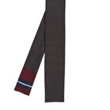 Paul Smith Ties - Square End Grey Block Stripe Tie