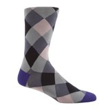 Paul Smith Socks - Purple Harlequin Pattern Socks
