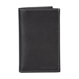 Paul Smith Wallet - Black Saffiano Leather Credit Card Wallet