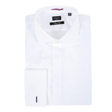 Paul Smith Shirts - White Evening Shirt, Double Cuff