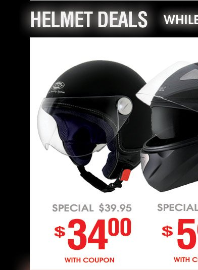Helmets Deals - While Quanitites Last!