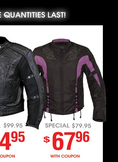 More Jacket Deals!