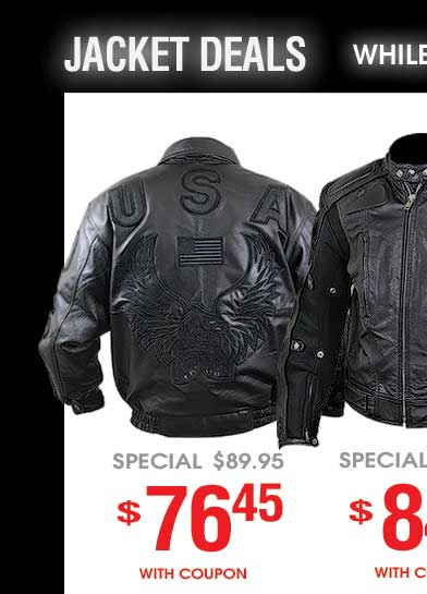 Jacket Deals  - While Quantities Last!