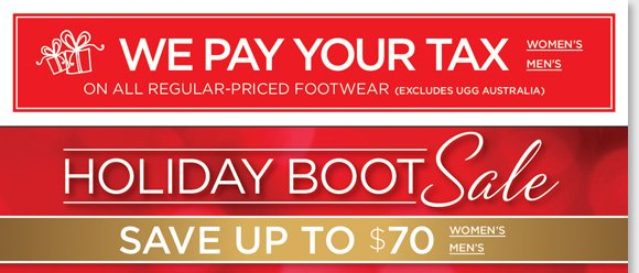 Save up to $70 on 100's of styles from Dansko, UGG Australia, Raffini and more! Plus, ALL MBT now $89 and we'll pay your tax on any regular priced footwear (excludes UGG® Australia)*. All deals end Sunday. Shop now at The Walking Company.