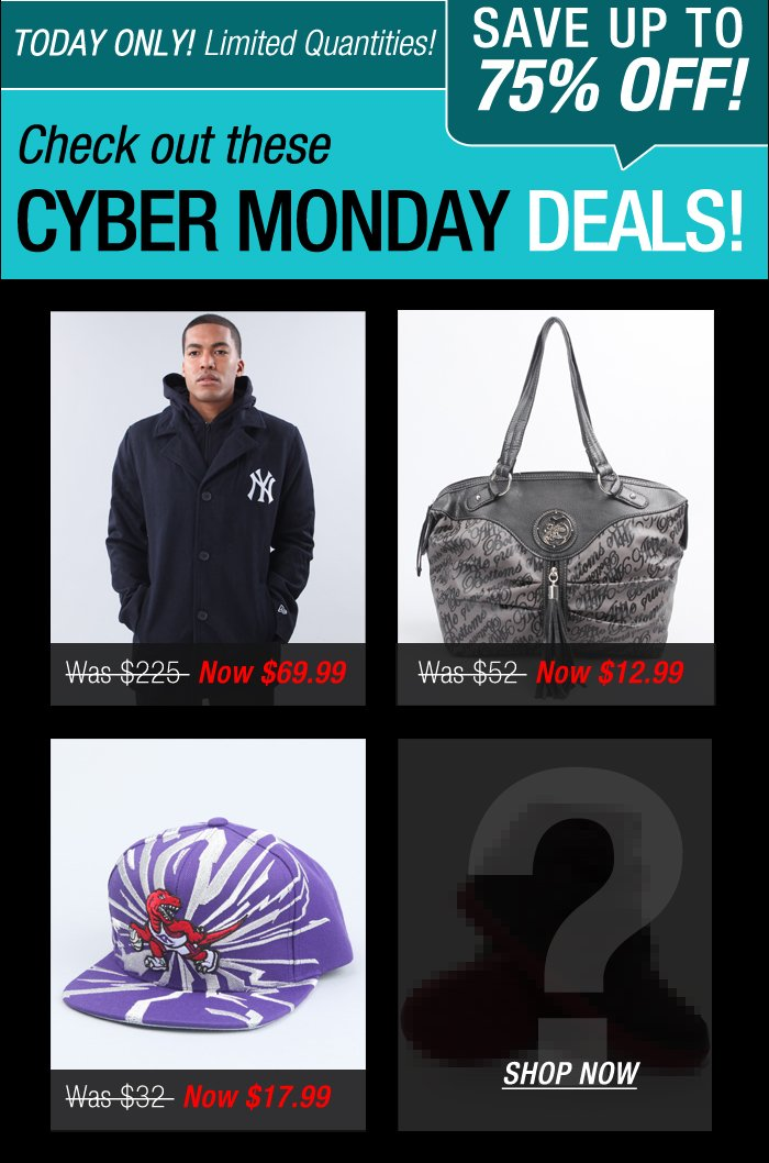 DrJays.com Check out Cyber Monday Now.
