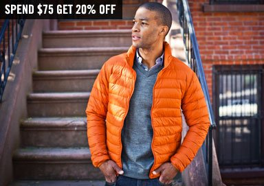 Shop Jacket Blowout: Save an Addt'l. 20%