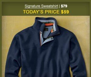 Signature Sweatshirt | $79 | Today's Price $59