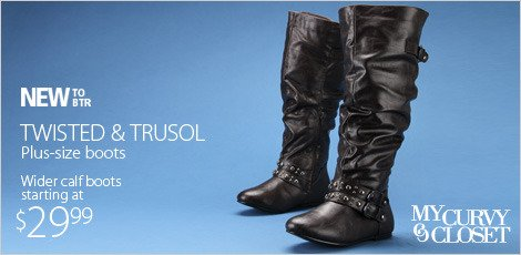 Twisted & Trusol plus size boots