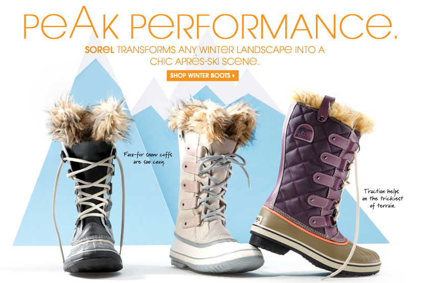 PEAK PERFORMANCE. SHOP WINTER BOOTS