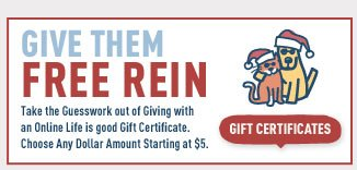 Shop for Life is good Gift Certificates