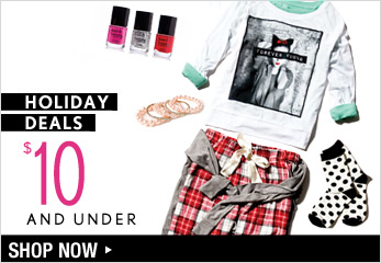 Holiday Deals - $10 and Under - Shop Now