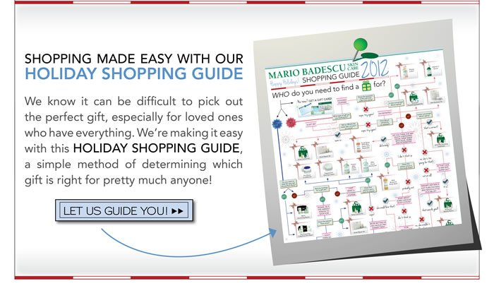 Shopping made easy with our holiday shopping guide. We know it can be difficult to pick out the perfect gift, especially for loved ones who have everything. We're making it easy with this Holiday Shopping Guide, a simple method of determining which gift is right for pretty much anyone!