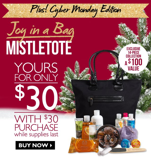 PLUS! Cyber Monday Edition Joy in a Bag MISTLETOTE -- YOURS FOR ONLY $30 WITH $30 PURCHASE WHILE SUPPLIES LAST