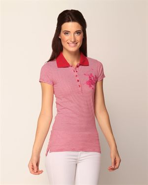 Beverly Hills Polo Club Striped Polo Shirt