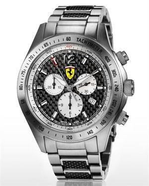 Scuderia Ferrari Carbon Chronograph Watch Made In Switzerland
