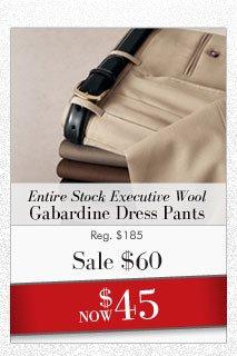 Executive Gabardine Dress Pants
