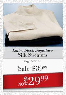 Signature Silk Sweaters