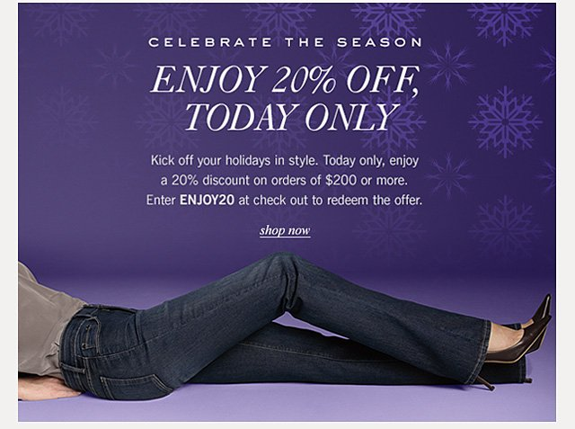 Enjoy 20% off, today only