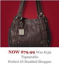 Tignanello Perfect 10 Studded Shopper