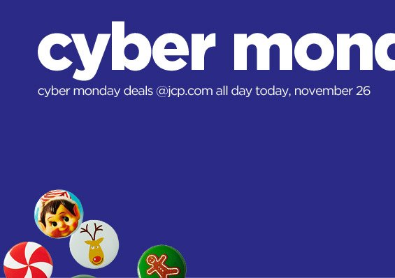 cyber monday deals @jcp.com all day today, november 26