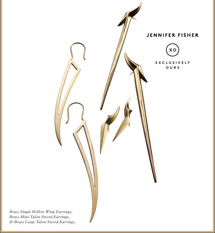 A little danger, a lot of style: Shop Jennifer Fisher earrings.