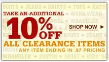 10% off Clearance Banner
