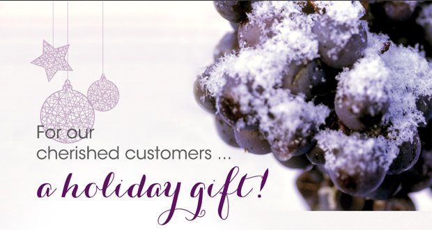 For our cherished customers…a holiday gift!