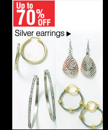 Up to 70% off Silver earrings